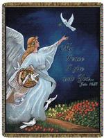 Angel Tapestry Throws With Scriptural