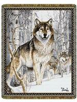 Wildlife Wolf Tapestry Throws
