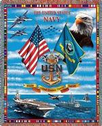 United States Navy Tapestry Throws