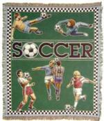 Soccer Tapestry Throws