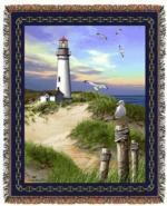 Lighthouses Tapestry Throws