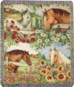 Horses Tapestry Throws