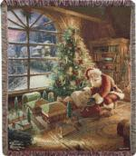 Santa Claus Tapestry Throws