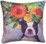 Dogs In Bloom Pillows