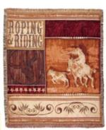 Cowboy - Cowgirl - Western Tapestry Throws