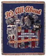 Law Enforcement Tapestry Throw Blankets