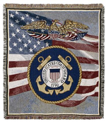 United States Coast Guard Tapestry Throws