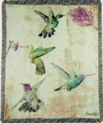 Birds and Birdhouses, Tapestry Throws