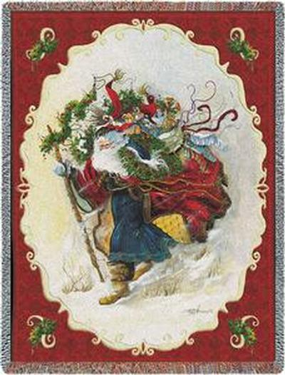 Christmas Toy Soldier Bears Art Tapestry Throw 2405-T Made in USA