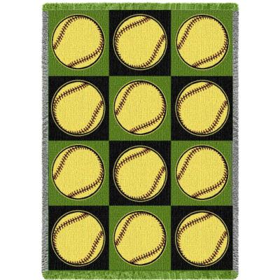 Cindy's Throws Has You Covered With A Large Selection Of Softball Simple Softball Throw Blanket
