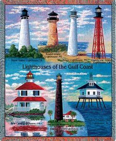 Famous lighthouses in the united states woven cotton for What state has the most lighthouses