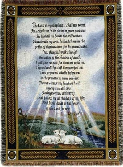 The Lord Is My Shepherd 23rd Psalm Woven Cotton
