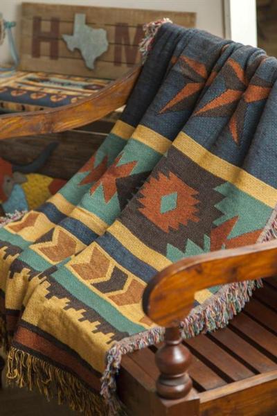 eedd33bd8611 Texas Star Striped Tapestry Throw