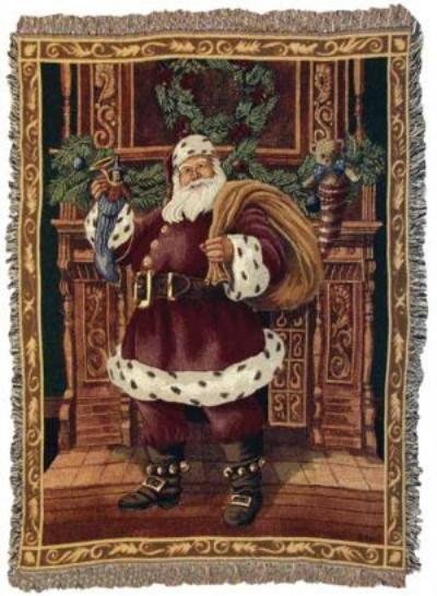 A Wonderful Selection Of Santa Claus Throw Blankets And