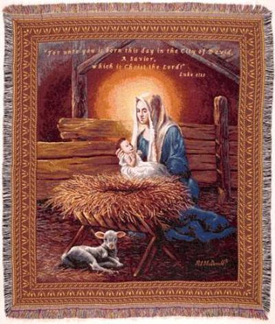 A Wonderful Selection Of Cotton Nativity Scene Throw