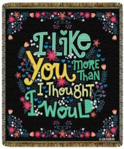 Like You More Tapestry Throw