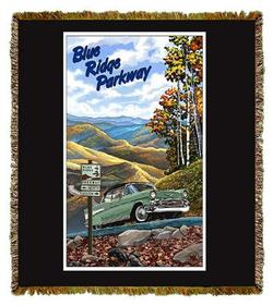 Blue Ridge Parkway Tapestry Throw