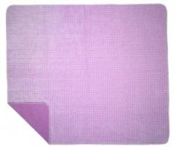CLOSEOUT Denali Gingham Lilac Microplush ® Blanket