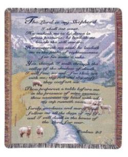 A Gift to Remember 23rd Psalm Tapestry Throw