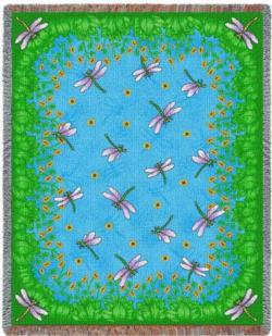 Dancing Dragonfly Tapestry Throw