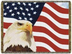 God Bless America Tapestry Throw