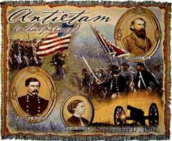 Antietam Historic War Tapestry Throw