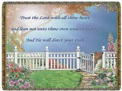 SALE Trust the Lord Proverbs 3:5-6 Tapestry Throw