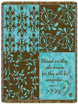 Blessed Are Those Who Mourn Matthew 5:4 Tapestry Throw
