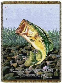 1st Peter 5:7 Tapestry Throw