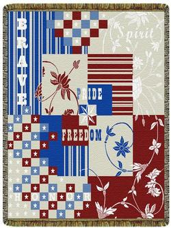 Celebrating Freedom Tapestry Throw