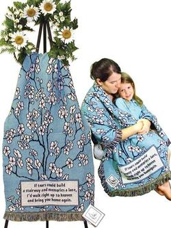SALE Blossoms with Tears Poem Tapestry Comfort Wrap