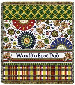 World's Best Dad Tapestry Throw