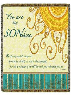 SALE You Are My Sunshine Son, Joshua 1:9 Tapestry Throw