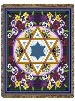 Star of David Elegance Tapestry Throw