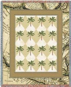 Colonial Palms Tapestry Throw