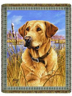 Yellow Lab Tapestry Throw