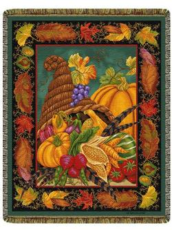 SALE Autumn Bounty Tapestry Throw