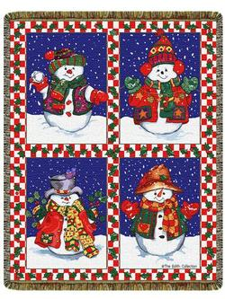 SALE Snowman's Holiday Tapestry Throw