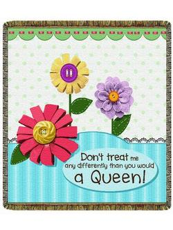 Don't Treat Me... Any Differently Tapestry Throw