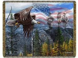 May Freedom Forever Fly Tapestry Throw