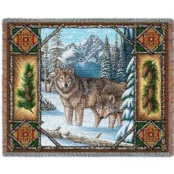 Wolf Lodge Tapestry Throw