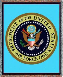 Presidential Seal Air Force One Tapestry Throw
