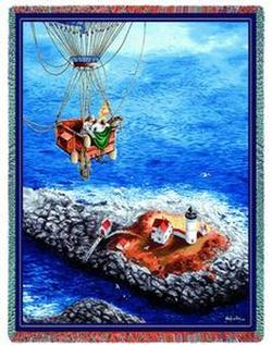 Balloon Over Nubble Tapestry Throw