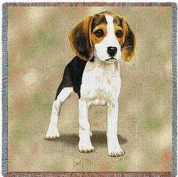 Beagle Puppies Lap Square Tapestry Throw