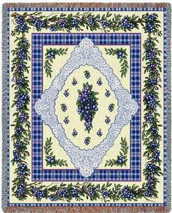 Blueberry Lace Tapestry Throw