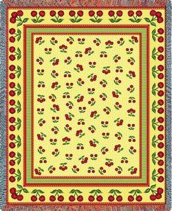 Cherries Jubilee Tapestry Throw