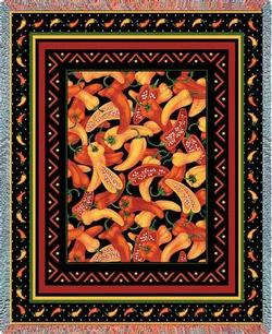 Chili Peppers Tapestry Throw