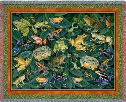 Leap Frog Tapestry Throw