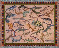 Lounging Lizards Tapestry Throw
