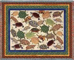 Turtles Tapestry Throw